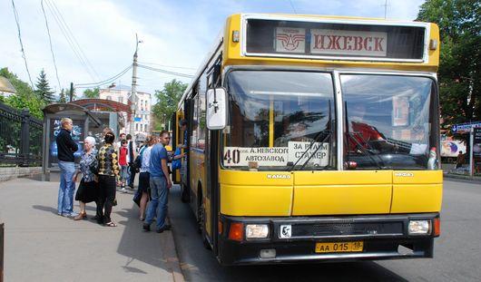 Остановку автобуса № 40 в Ижевске временно перенесут