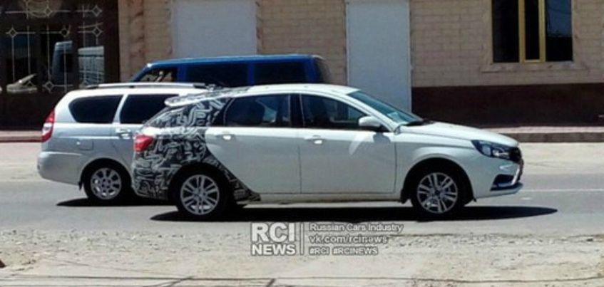 Фото: в сети опубликовали снимки универсала ижевской Lada Vesta SW без камуфляжа