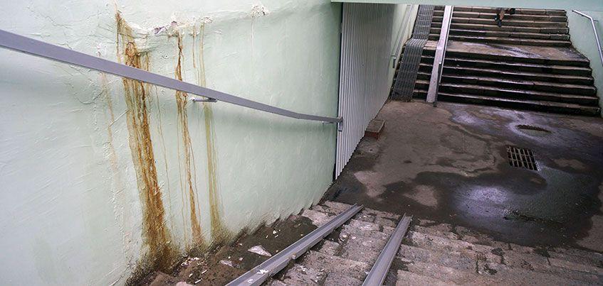 Ремонт подземного перехода на улице Удмуртской не выдержал первых ливней