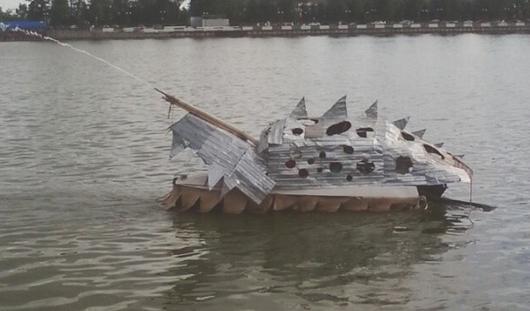 Из Ижевского пруда выловили железного крокодила