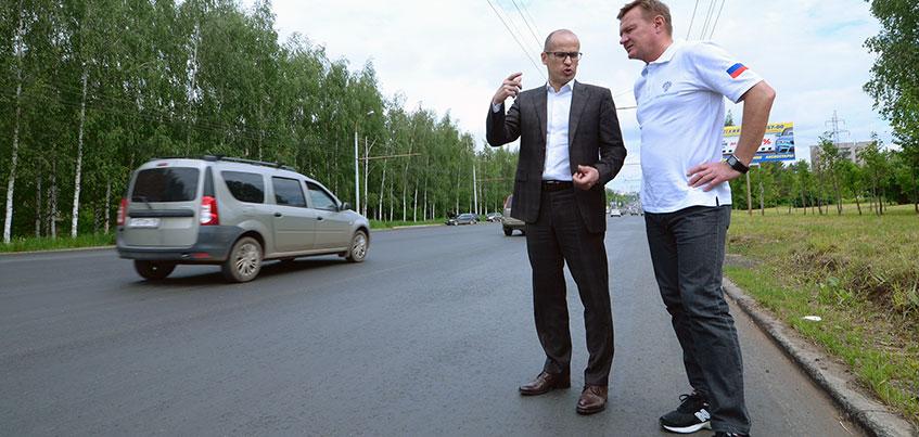 До конца года половина дорог Ижевска будет соответствовать нормативам