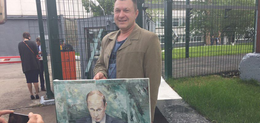 В Ижевске бывший полковник нарисовал картину к приезду Владимира Путина