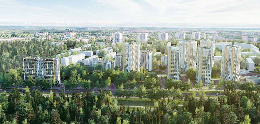 На улице 10 лет Октября в Ижевске началось строительство жилого комплекса «Покровский»