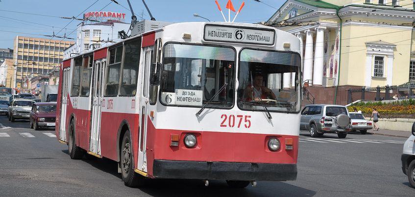 В Ижевске из-за ремонта теплотрассы не будет ходить троллейбус №6