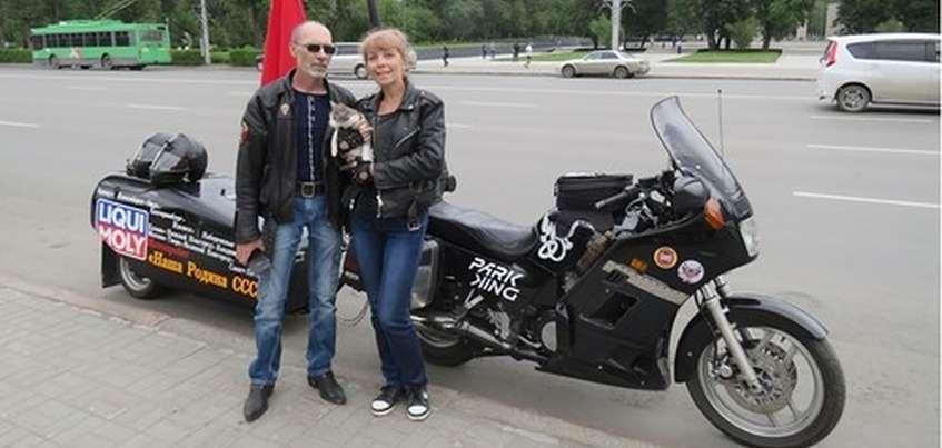 Байкер из Барнаула посетит Ижевск в рамках мотопробега «Наша родина – СССР»