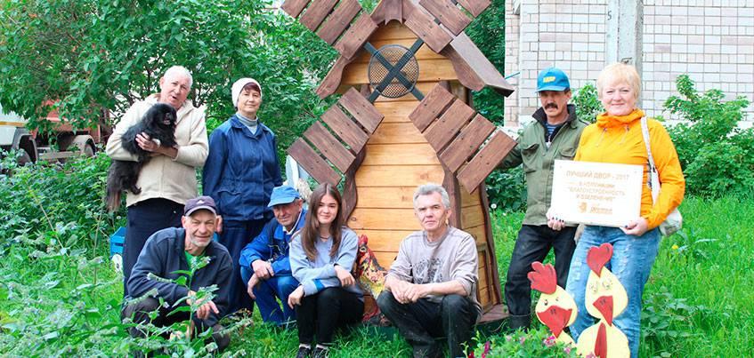 Лучшие дворы Ижевска: как соседи открыли мастерскую и сами украсили двор