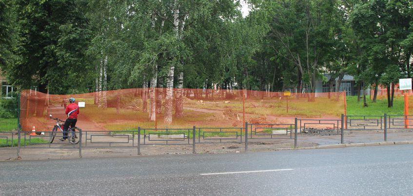 В Ижевске началась реконструкция бульвара Гоголя