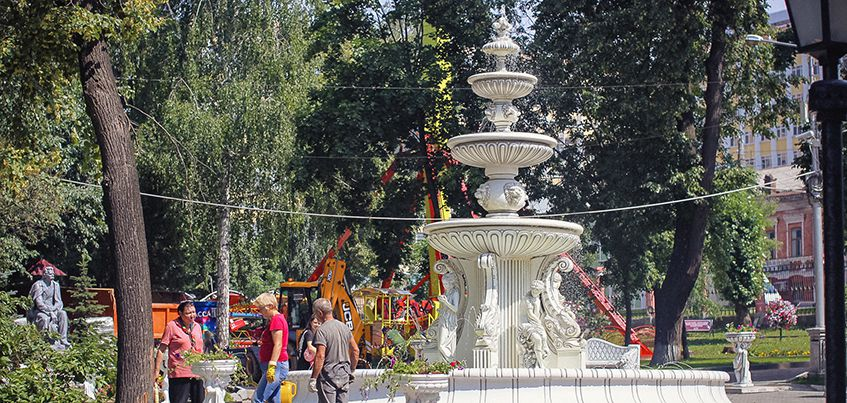 В Летнем саду Ижевска заработал новый фонтан