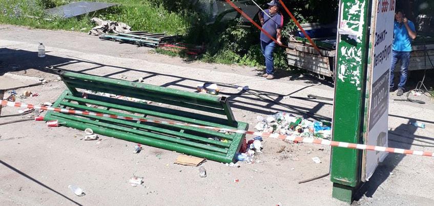 В Ижевске снесли трамвайную остановку «Подшипниковый завод»