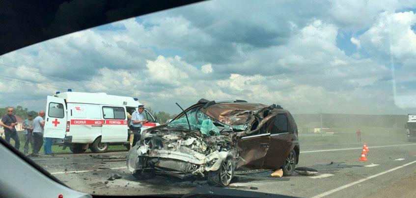ДТП с участием трех автомобилей произошло в Малопургинском районе Удмуртии