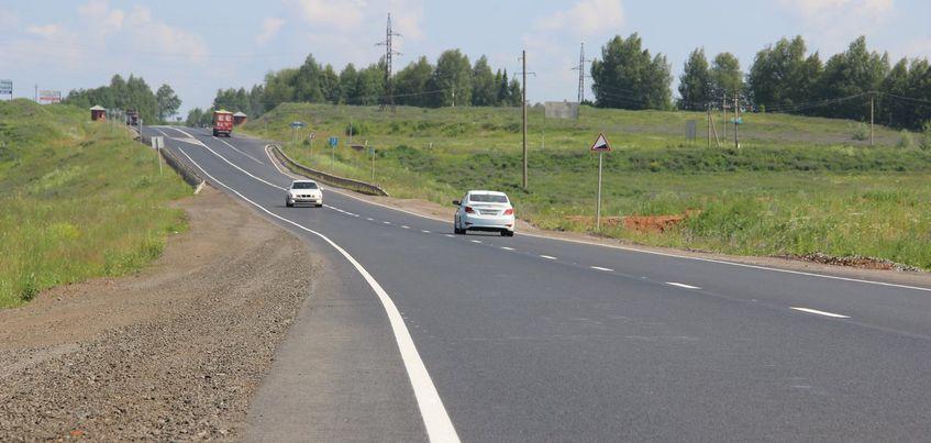 Ремонт дороги Ижевск-Люк завершили раньше срока