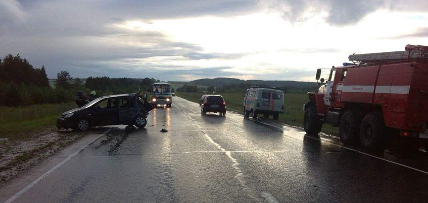 В Удмуртии из-за автоледи водители грузовика и легковушки оказались в больнице