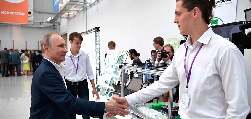 Два ижевских школьника побывали на съемках «Недетского разговора с Владимиром Путиным»