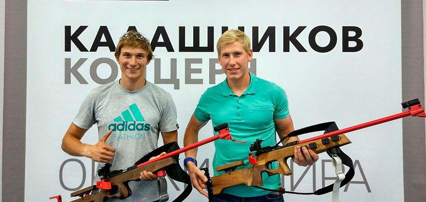 Ижевский биатлонист Александр Поварницын испытал новую винтовку БИ 7-7