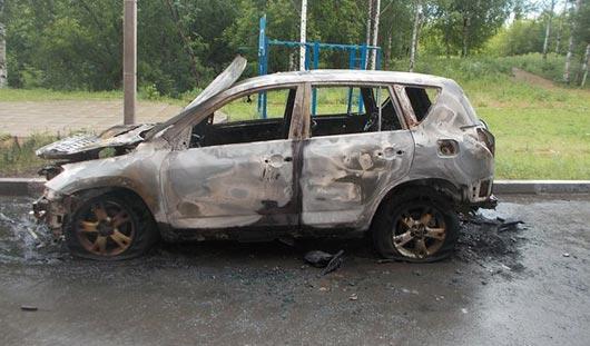 В Ижевске неизвестные сожгли дорогую иномарку