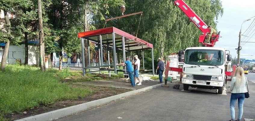 Новый остановочный комплекс появился на остановке «Радиозавод» в Ижевске