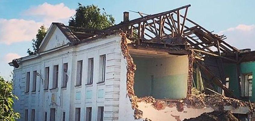 В Ижевске начали сносить школу №20 на улице Леваневского