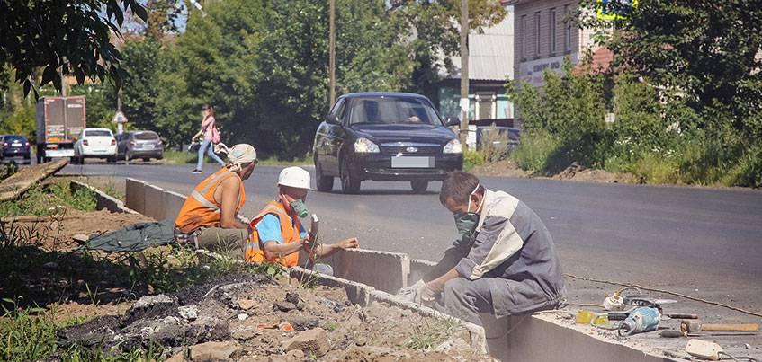Ремонт улицы Партизанской в Ижевске полностью закончат к 24 августа