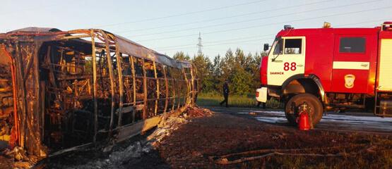 Компанию-перевозчика, которой принадлежал автобус Самара-Ижевск, сгоревший в Татарстане, могут лишить лицензии