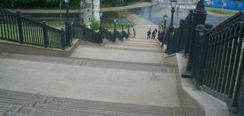 В Ижевске отремонтировали лестницу, которая ведет к набережной
