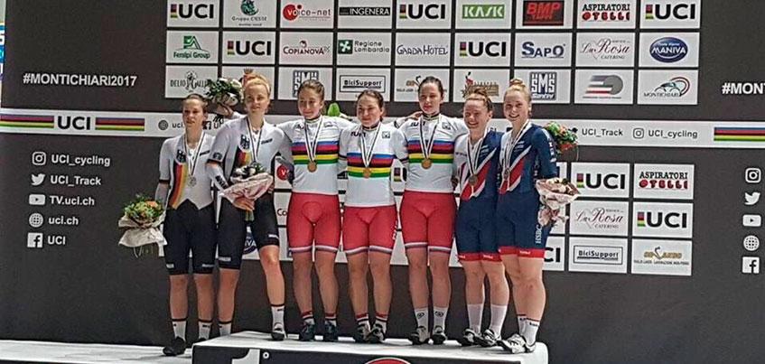 Ижевчанка Яна Тыщенко выиграла две медали на Первенстве мира по велоспорту на треке