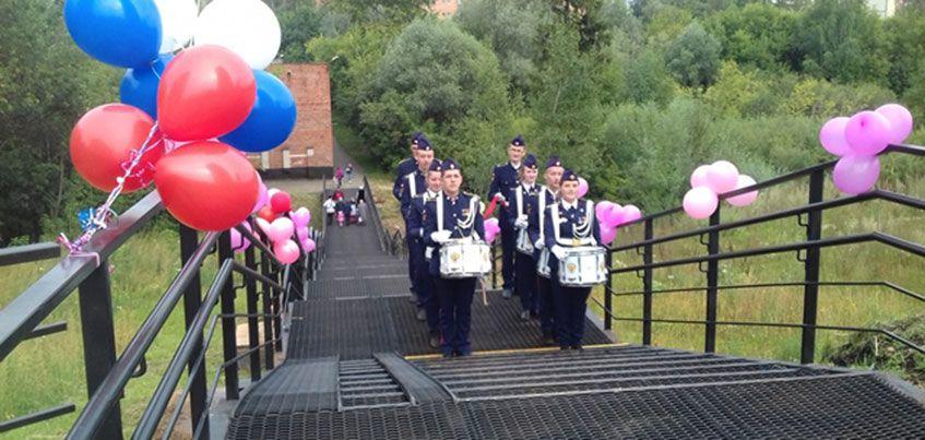 В Ижевске торжественно открыли пешеходный мост через речку Карлутку