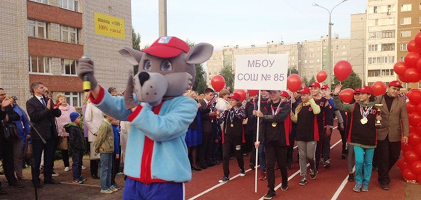 Современный спортивный стадион открыли в ижевской школе №100
