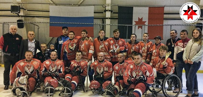 Следж-хоккеисты Удмуртии выиграли всероссийский домашний турнир