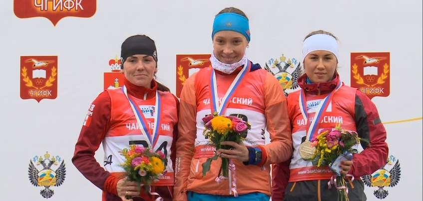 Ульяна Кайшева выиграла спринт на чемпионате России по летнему биатлону