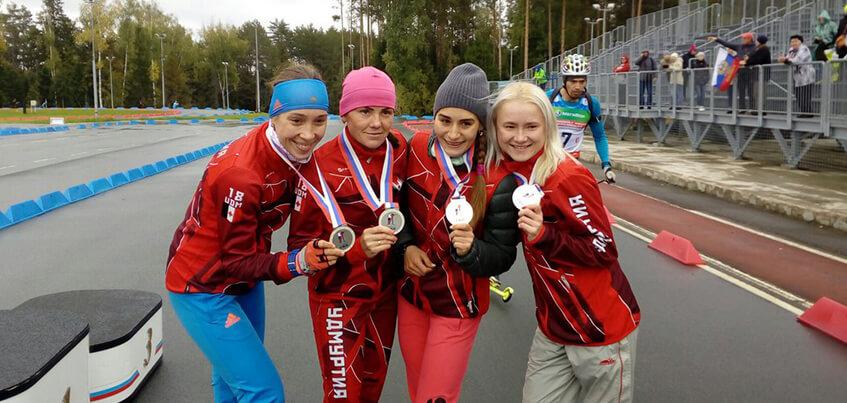 Биатлонистки из Удмуртии выиграли «серебро» в эстафете на Чемпионате России