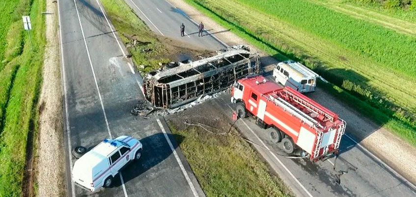 В Татарстане отложили суд над водителем «огненного» автобуса Самара-Ижевск, попавшего в смертельное ДТП