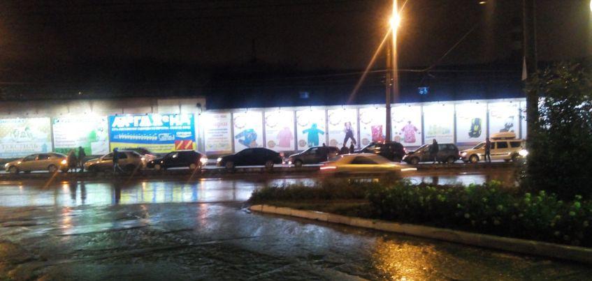 В ДТП из 10 машин попал патруль ГИБДД в Ижевске