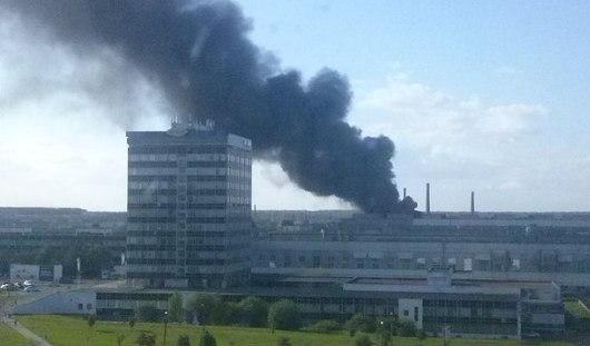 Площадь пожара на территории Ижевского автозавода составила 300 квадратных метров