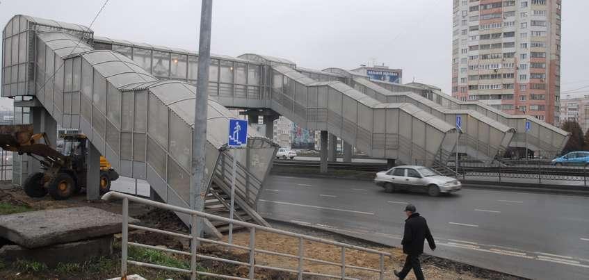 Надземный пешеходный переход на Воткинском шоссе в Ижевске обойдется в 60 млн рублей