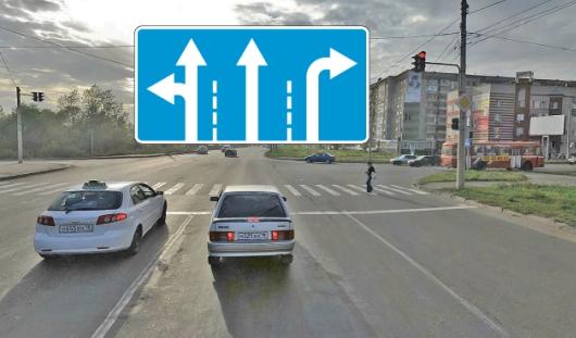 В Ижевске на перекрестке улиц Чугуевского и Пушкинской изменили движение по полосам