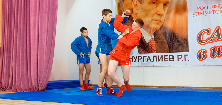 В Школе кадетского движения в Ижевске открыли зал самбо