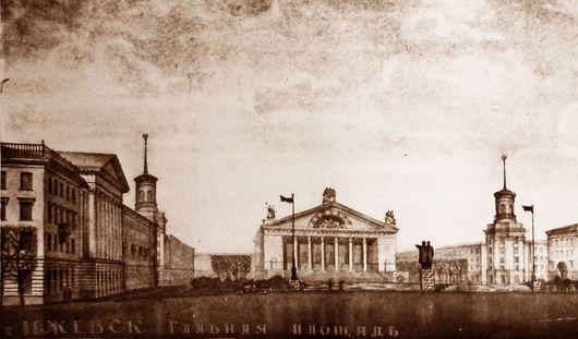 Потеряный план Центральной площади: в Ижевске могла появиться скульптура Сталина высотой с 4-этажный дом