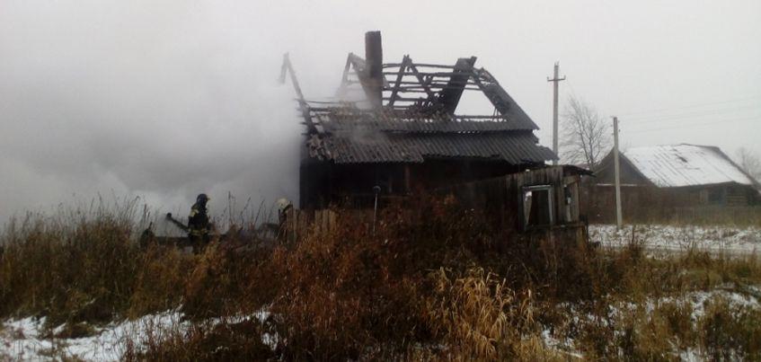 В Глазовском районе Удмуртии в пожаре погиб 59-летний мужчина