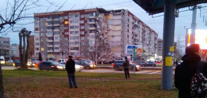Обрушение части дома на Удмуртской: пострадало 32 квартиры