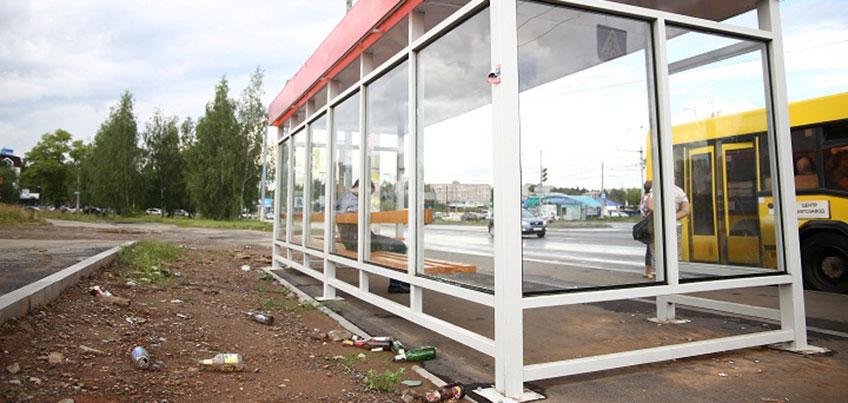 Ижевск заработает 1,5 миллиона рублей на размещении рекламы на остановках города