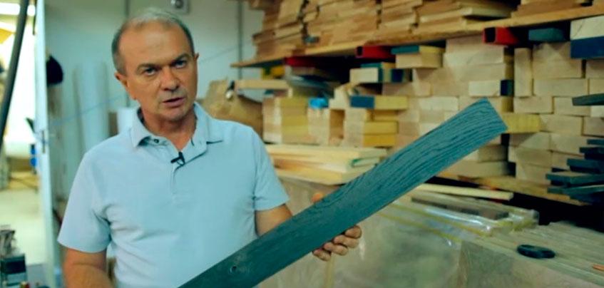 Ижевчанина, который делает торцевые разделочные доски, показали в «Чудо техники» на НТВ