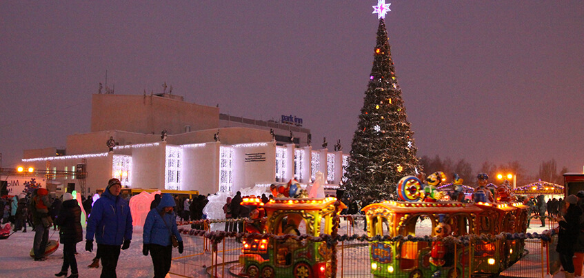 В Ижевске к Новому году будет два ледовых городка