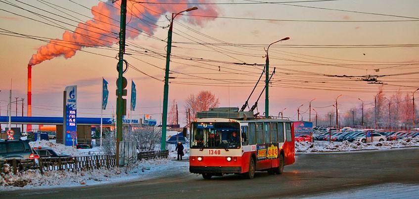 В Ижевске движение троллейбусов по трем маршрутам перенаправили на Удмуртскую