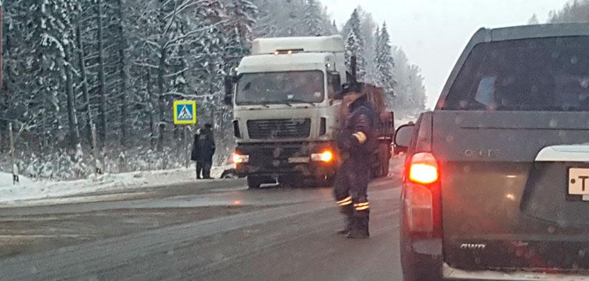 Пожилой мужчина погиб под колесами грузовика в Завьяловском районе Удмуртии