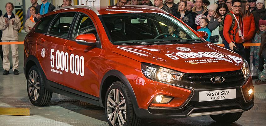 На ижевском заводе LADA с конвейера сошел 5-миллионный автомобиль