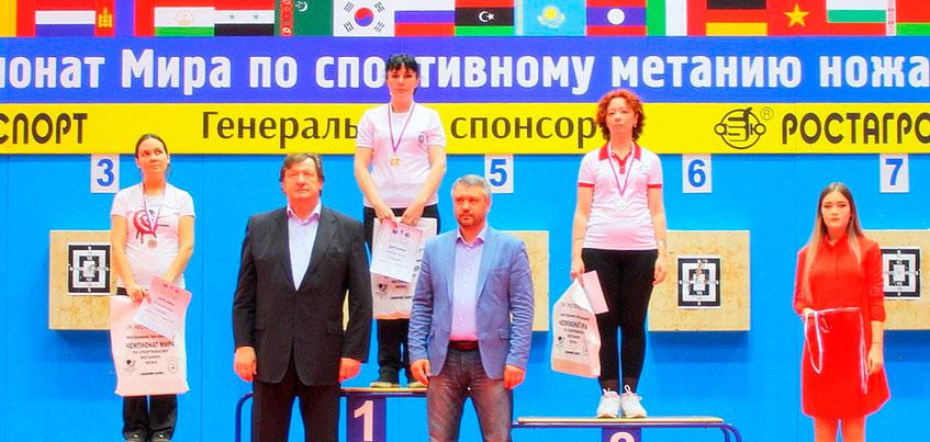 Метательница ножей из Ижевска победила на Чемпионате мира в Москве