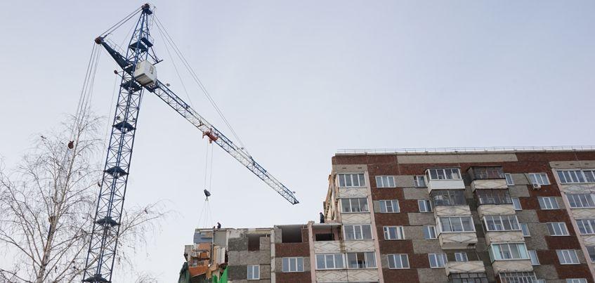Взрыв газа в Ижевске: с трех уцелевших подъездов дома на Удмуртской снят режим ЧС