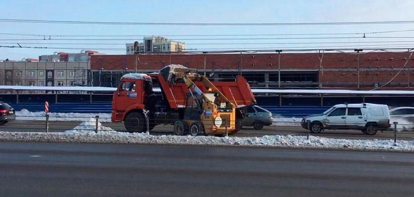 Разметку у тросовых ограждений на Удмуртской в Ижевске нанесут весной 2018 года