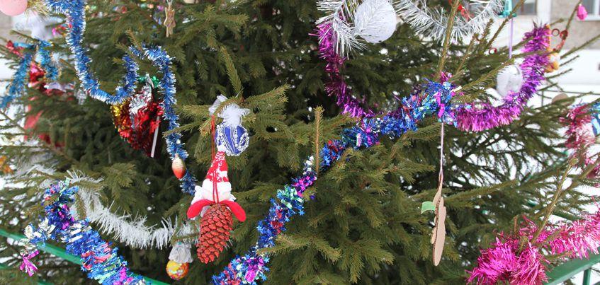 Ижевчане украшают к Новому году свои подъезды и дворы