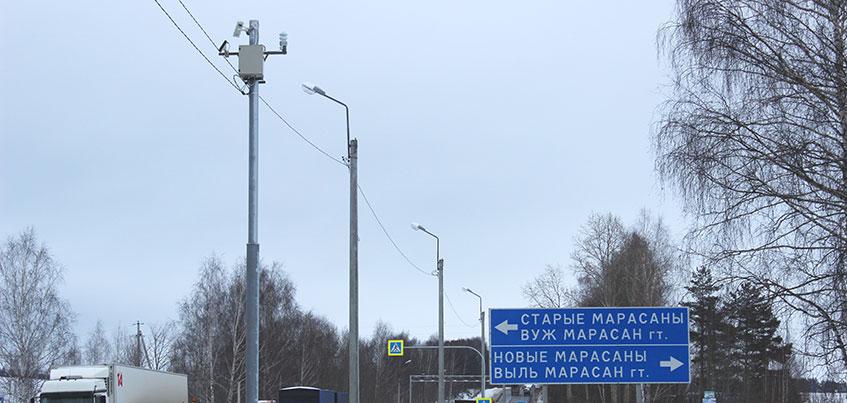 На трассе Ижевск-Воткинск установили дорожную метеостанцию